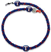 Texas Rangers Blue Team Color Frozen Rope Baseball Necklace