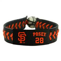 San Francisco Giants Bracelet Team Color Baseball Buster Posey