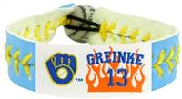 Milwaukee Brewers Bracelet Team Color Baseball Zack Greinke