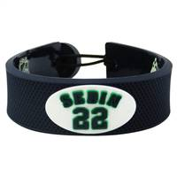 Vancouver Canucks Bracelet Team Color Jersey Daniel Sedin Design