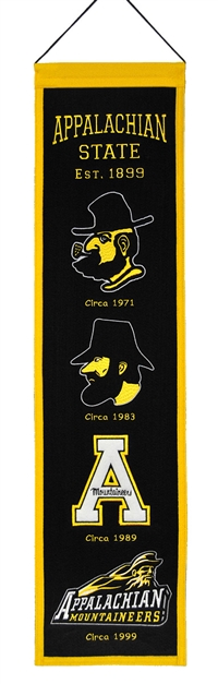 Appalachian State Heritage Wool Banner