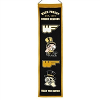 Wake Forest Heritage Wool Banner