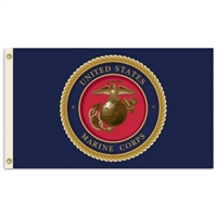 U.S. Marine Corps 3 Ft. X 5 Ft. Flag W/Grommets
