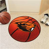 "Oregon State Beavers Basketball Rug 29"" diameter"