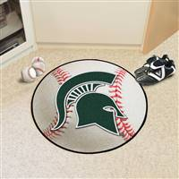 "Michigan State Spartans Baseball Rug 29"" Diameter"