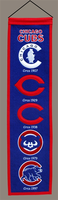 Chicago Cubs Heritage Wool Banner