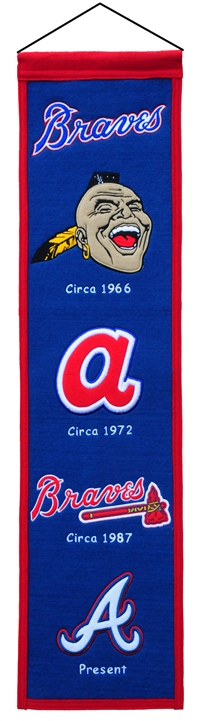Atlanta Braves Heritage Wool Banner