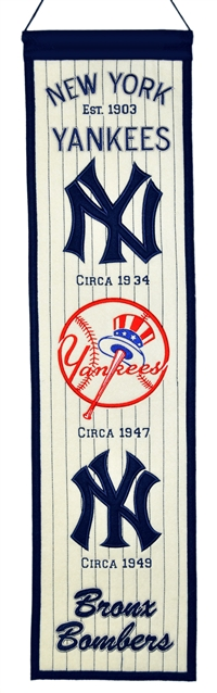 New York Yankees Heritage Wool Banner