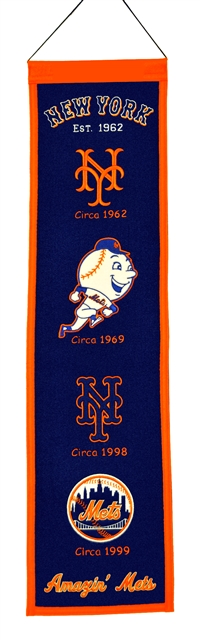 New York Mets Heritage Wool Banner