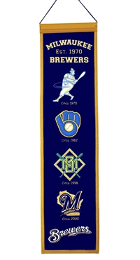Milwaukee Brewers Heritage Wool Banner