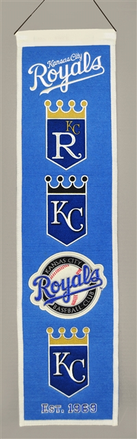 Kansas City Royals Heritage Wool Banner