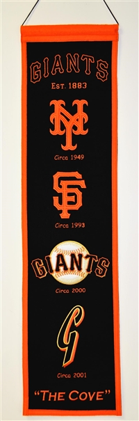 San Francisco Giants Heritage Wool Banner