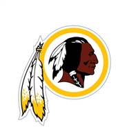Washington Redskins Diecut Window Film