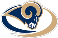 St. Louis Rams Diecut Window Film
