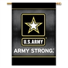 "U.S. Army 2-Sided 28"" X 40"" Banner W/ Pole Sleeve"