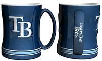 Tampa Bay Rays Coffee Mug - 14oz Sculpted Relief