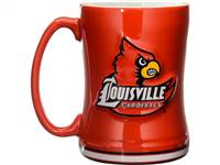 Louisville Cardinals Coffee Mug 14oz Sculpted Relief
