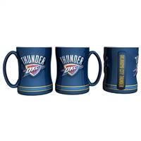Oklahoma City Thunder Coffee Mug 14oz Sculpted Relief