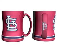 St. Louis Cardinals Coffee Mug - 14oz Sculpted Relief - Red