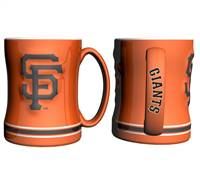 San Francisco Giants Coffee Mug - 14oz Sculpted Relief - Orange