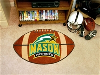 "George Mason Patriots Football Rug 22""x35"""