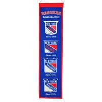 New York Rangers Heritage Wool Banner