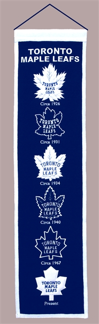 Toronto Maple Leafs Heritage Wool Banner