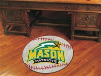 "George Mason Patriots Baseball Rug 29"" diameter"