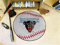 "Maine Black Bears Baseball Rug 29"" diameter"