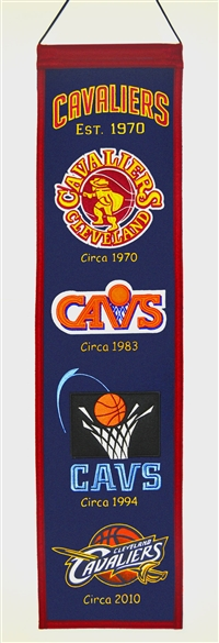 Cleveland Cavaliers Heritage Wool Banner