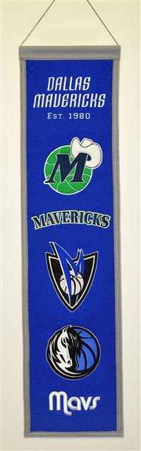 Dallas Mavericks Heritage Wool Banner