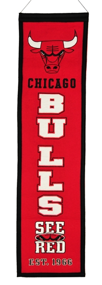 Chicago Bulls Heritage Wool Banner