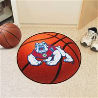 "Fresno State Bulldogs Basketball Rug 29"" diameter"