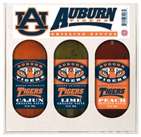 Auburn Tigers Grilling Gift Set 3-12 oz (Cajun, Lime and Peach)