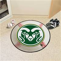 "Colorado State University Baseball Mat 27"" diameter"