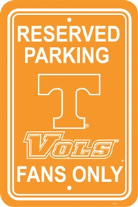 "Tennessee Volunteers 12"" x 18"" Plastic Parking Sign"