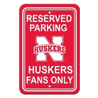 "Nebraska Cornhuskers 12"" X 18"" Plastic Parking Sign"