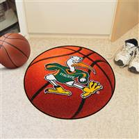 "Miami Hurricanes Basketball Rug 29"" diameter"