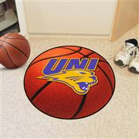 "Northern Iowa Panthers Basketball Rug 29"" diameter"