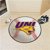"Northern Iowa Panthers Baseball Rug 29"" Diameter"