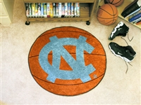 "North Carolina Tar Heels Basketball Rug 29"" diameter"
