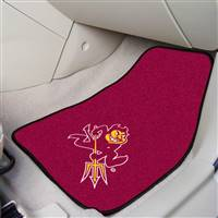 "Arizona State Sun Devils 2-piece Carpeted Car Mats 18""x27"""