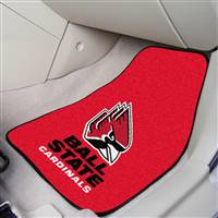 "Ball State Cardinals 2-piece Carpeted Car Mats 18""x27"""