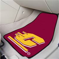 "Central Michigan Chippewas 2-piece Carpeted Car Mats 18""x27"""