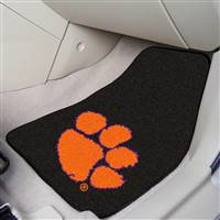 "Clemson Tigers  2-piece Carpeted Car Mats 18""x27"""
