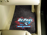"DePaul Blue Demons 2-piece Carpeted Car Mats 18""x27"""
