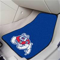 "Fresno State Bulldogs 2-piece Carpeted Car Mats 18""x27"""