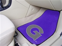 "Georgetown Hoyas 2-piece Carpeted Car Mats 18""x27"""