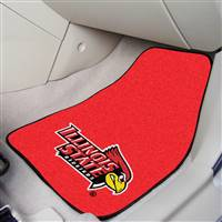 "Illinois State University 2-pc Carpet Car Mat Set 17""x27"""