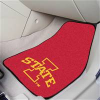 "Iowa State Cyclones 2-piece Carpeted Car Mats 18""x27"""
